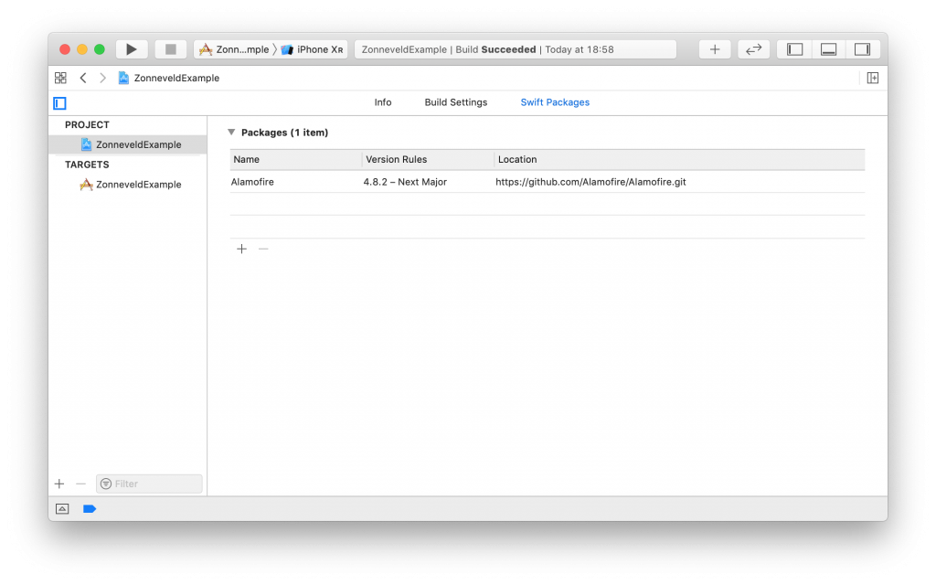 Swift Package Manager in the Organizer