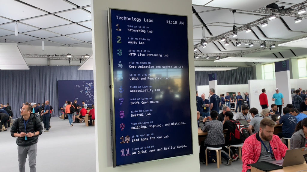 The labs during WWDC 2019.