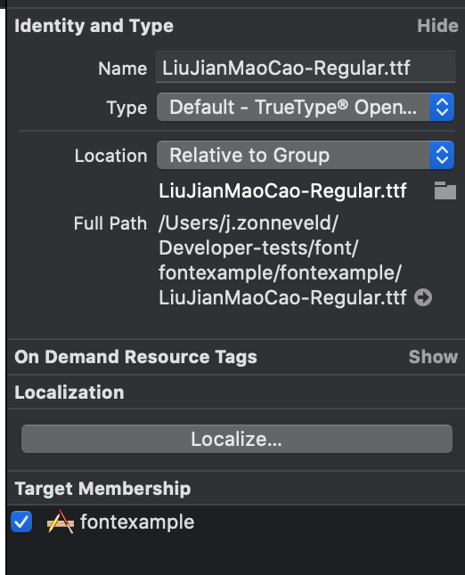 Adding custom fonts to your iOS app