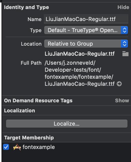 Xcode target membership