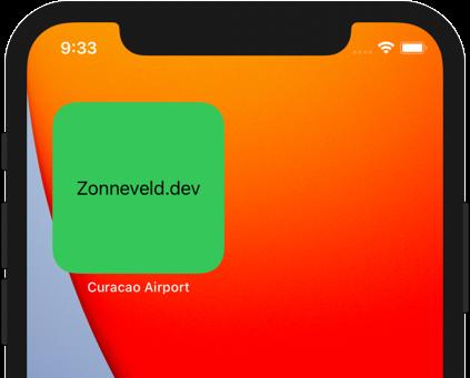 Widgetkit iOS widget