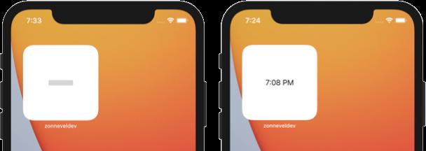 Widget example for iOS