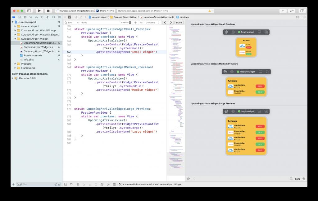 Xcode Previews widget widgetkit